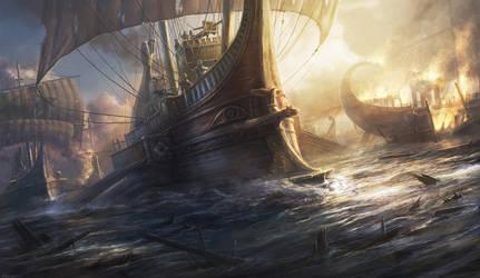 Roman warship by RadoJavor