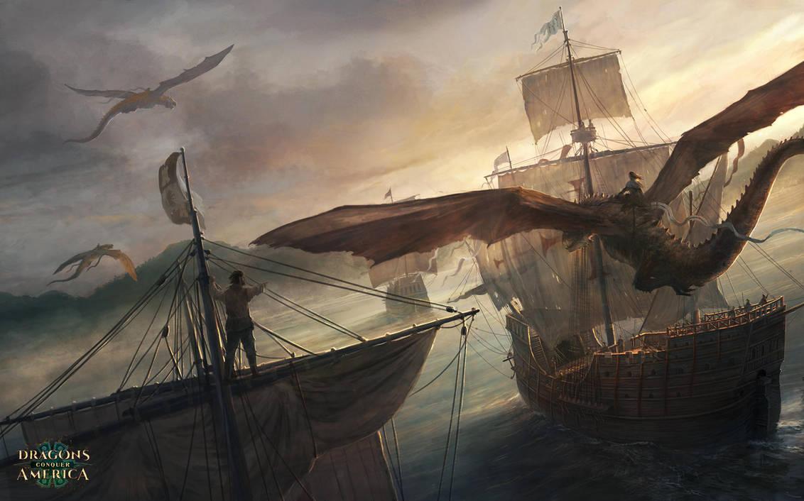 Dragons coming to America by RadoJavor