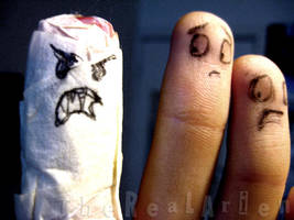 mummified finger by therealarien
