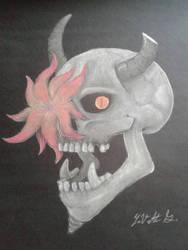skull in bloom by YaVetteG