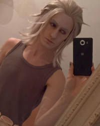Makeup test - Ravus nox Fleuret by hizsi
