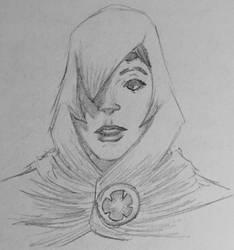 Raven Sketch II by KyronicArtist