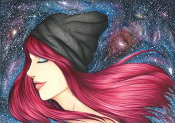 Galaxy girl by SpirittART