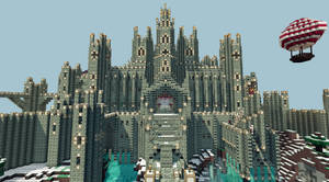 My Minecraft castle (close front view)Download now by CW390