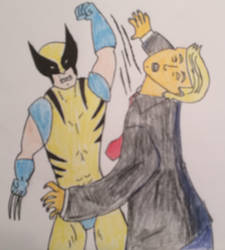 Wolverine punch Trump by american069