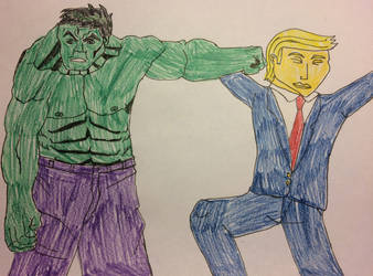 Hulk punch Trump by american069