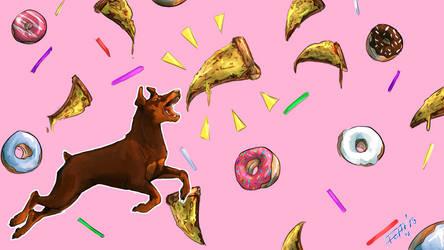 Vetra the Doberman Pizza Dreams Background by ProbablyAshley