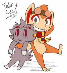 Talvi and Cecil doodle by Novern