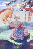 Deer Final by tanhuitian