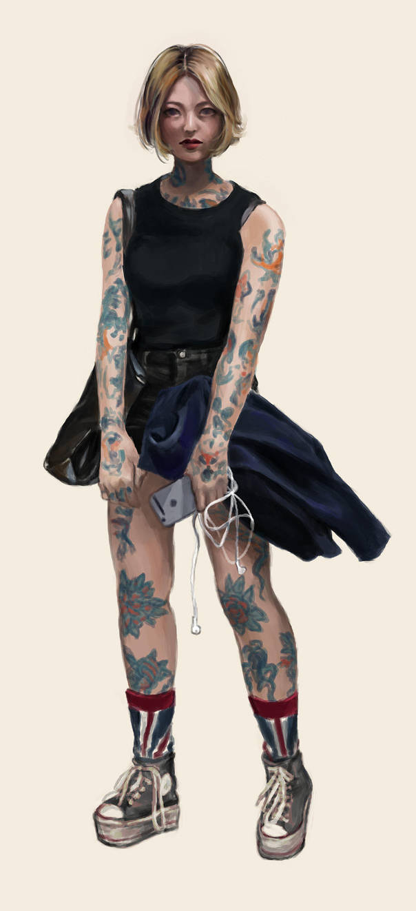 street fashion inked by tanhuitian
