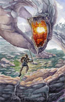 Turin vs. Glaurung by EuchridEucrow