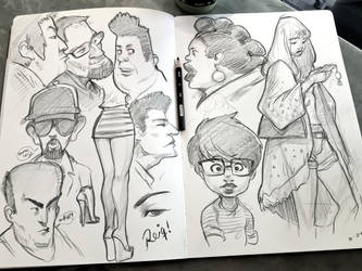 CoffeShop Sketches by reiq