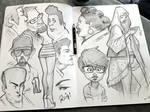 CoffeShop Sketches by reiq