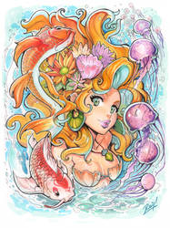 Underwater Traditional Mermaid Fantasy by reiq