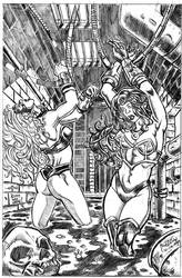 Commission: Vanessa and Rosita out cold and Bound by RaelIAK