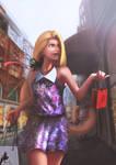 Rapunzel fan art (Genre bend) by Samscrapbook