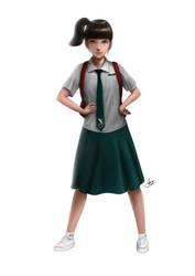 Drapery study (High school uniform) by Samscrapbook