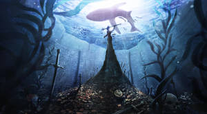 The guardian - Underwater environment concept by Samscrapbook