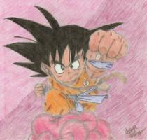 Chibi Goku - Old by fox0r