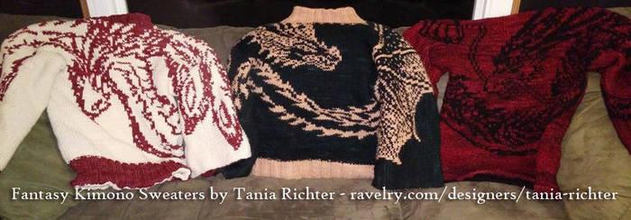 Kimono sweater trio by aetherfang