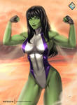 She-Hulk - optional NSFW on Patreon by evandromenezes