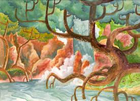waterfall glen by taffygiraffe