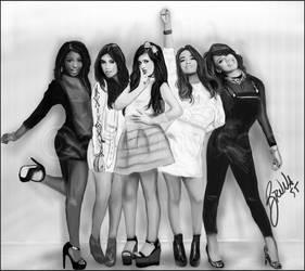 Fifth Harmony - Digital Drawing by BrunaDM
