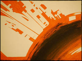 Orange Abstract by SereneBlackout