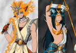 Team White and Black by Setsuna-Yena