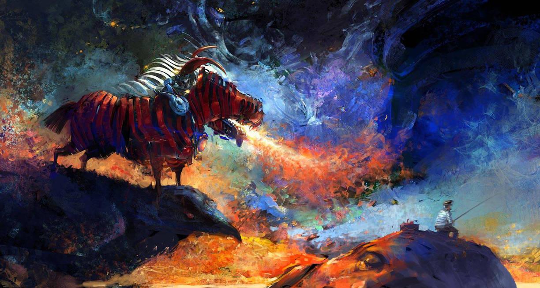 Fisherman and Zebra of Apocalypse by zalas
