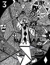 Three of Diamonds by ENIMINEMOE