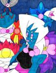 Floral Specter (Fan Art) by ENIMINEMOE