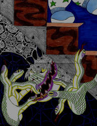 Stair Monster by ENIMINEMOE