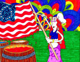 Happy 4th July from Moon Beam (or Besty Ross) by ENIMINEMOE