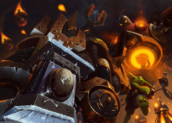 Heroes Of The Storm Gazlowe VS Thrall by Eburone