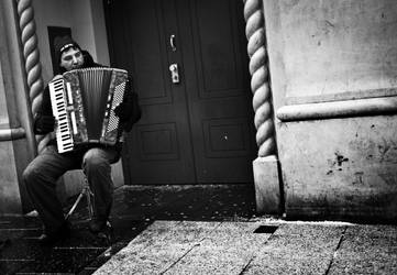 Accordion Player by AtomicMouthpiece