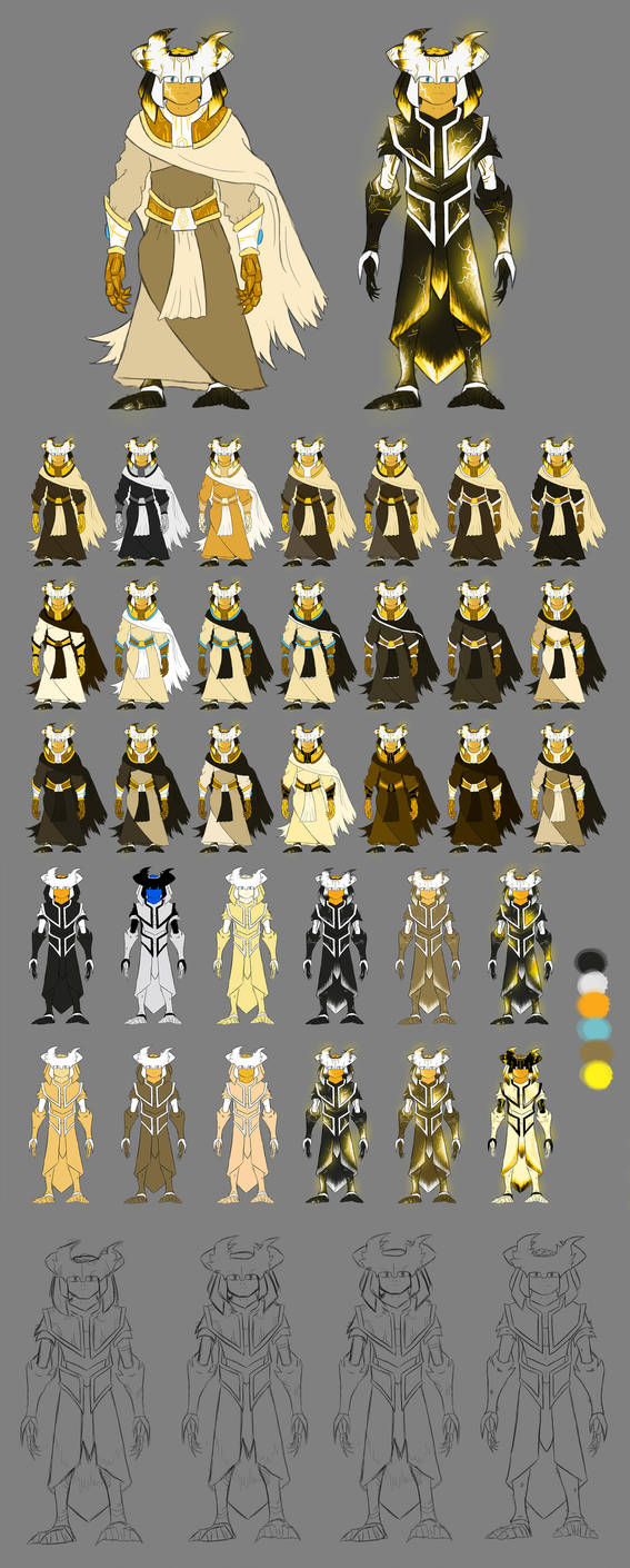 Lazroth - Character Colour Development by JakeSkellyDesigns