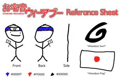 Otakune Weeaboo Reference Sheet by HentaiMD