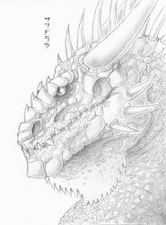Titus the Earth Dragon by LycanthropeHeart