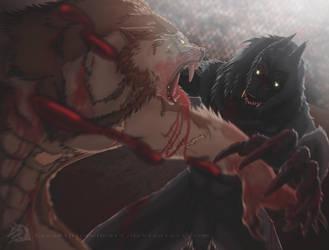 Broken Fang vs Van Helsing by LycanthropeHeart