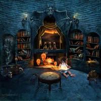 Forbidden library by MadameThenadier