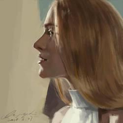 Dolores digital painting by buriedflowers