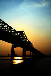Massachusetts Bridge Sunset 1 by Thegoldenmane