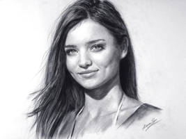 Lovely MIRANDA KERR in Charcoal - Speed Drawing by theportraitart