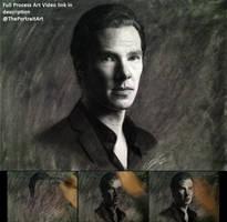 Drawing Benedict Cumberbatch / Sherlock Holmes by theportraitart
