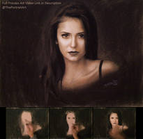 Nina Dobre Portrait in Pastel / Charcoal by theportraitart