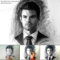 Elijah (the Originals) - Charcoal Portrait by theportraitart