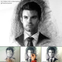 Elijah (the Originals) - Charcoal Portrait by theportraitart