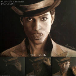 Prince (musician) Portrait with monotone-pastel by theportraitart
