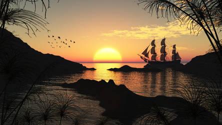 Loves Sun Set by FeysalAnthonyNair